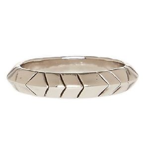 HOUSE OF HARLOW 1960 Silver Aztec Stack Ring